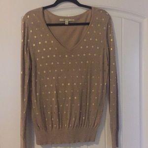 LC Lauren Conrad lightweight polka dot Sweater